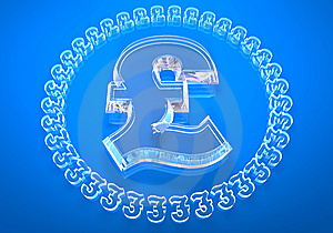 Glass £ (pound) Stock Photography - Image: 8334432