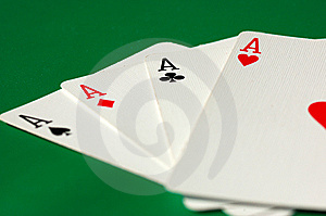 Four Aces Stock Photography - Image: 8334812