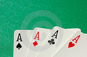 Four Aces Royalty Free Stock Photography - Image: 8334887