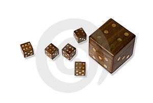 Wooden Dices Stock Photo - Image: 8335700