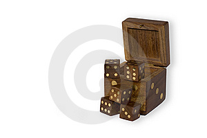 Wooden Dices Stock Image - Image: 8335741