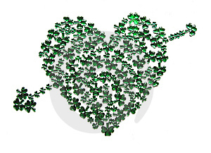 St Patrick's Day Heart With Arrow Royalty Free Stock Photo - Image: 8335885