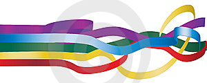 Multicolored Ribbons Royalty Free Stock Photography - Image: 8336367