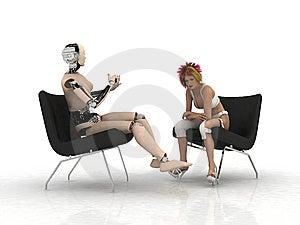 De Robot Royalty-vrije Stock Fotografie - Afbeelding: 8336717