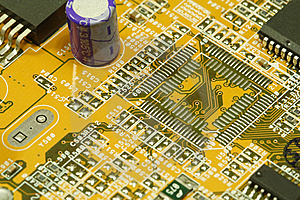 PC Motherboard Royalty Free Stock Photos - Image: 8336998