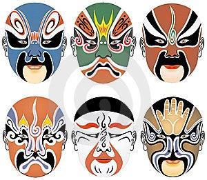 Masks Used In Peking Opera Stock Photography - Image: 8337152