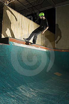 Skateboarder Doing Trick On Ramp Stock Photos - Image: 8337353