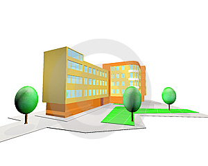 3D Rendering House Stock Image - Image: 8337471