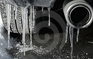 Icicles On Bumper Royalty Free Stock Photography - Image: 8338117