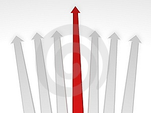 3d Arrows Stock Images - Image: 8339034