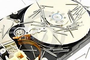 Hard Drive With Nail Royalty Free Stock Photo - Image: 8339185