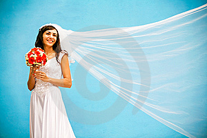 Bride With A Wedding Bouquet Stock Photo - Image: 8339230