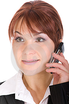 Phone Woman Stock Image - Image: 8339551