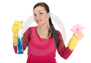 Cleaning woman Stock Images