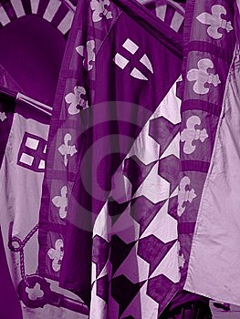 Purple Flags Royalty Free Stock Photography - Image: 8339937