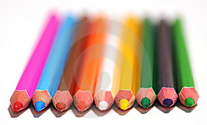 Set Of Colored Pencils Stock Photo - Image: 8340460