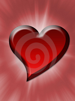A Bright Red Heart Royalty Free Stock Image - Image: 8340596