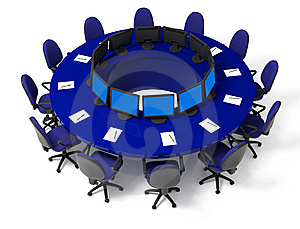 Furniture For Conference Royalty Free Stock Image - Image: 8341826