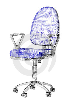 Office Armchair Wireframe Stock Images - Image: 8341914