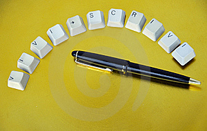 Keys And Pen Stock Photos - Image: 8342513