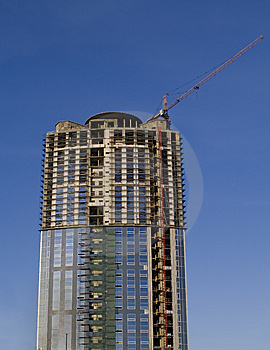 Cranes And Building Construction Of A Skyscraper Stock Photos - Image: 8342673