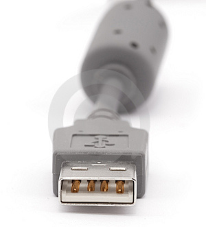 USB Cable Isolated On White Stock Images - Image: 8343564