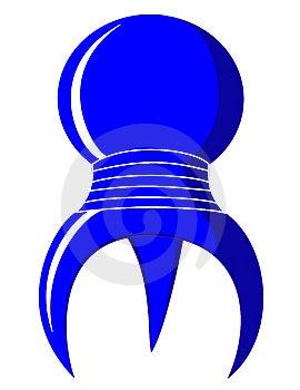 Blue 3 Legged Spherical Symbol Royalty Free Stock Photography - Image: 8344187