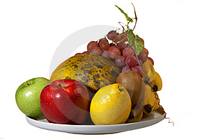 Juicy Plate Of Fruits Stock Photo - Image: 8344960