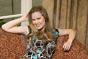 Attractive Young Woman Sitting Stock Images - Image: 8345154