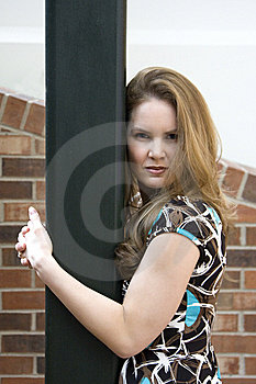 Attractive Woman Holding Post Stock Photos - Image: 8345163