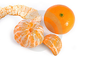 Tangerine And Segments Royalty Free Stock Photo - Image: 8345515