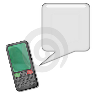 Cellphone Conversation Royalty Free Stock Photography - Image: 8346177