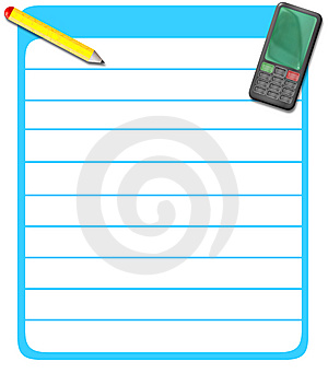Cellphone Numbers List 2 Stock Photography - Image: 8346242