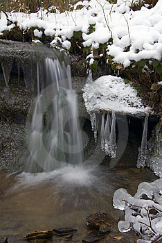 Frozen Creek And Icicles Royalty Free Stock Photo - Image: 8346275