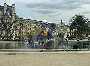 Submarine In The Louvre. Royalty Free Stock Image - Image: 8346466