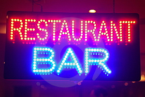 Restaurant In The Night Stock Images - Image: 8346484