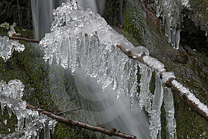Frozen Creek And Icicles Royalty Free Stock Images - Image: 8346549