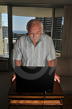 Laptop User Is Suprised Royalty Free Stock Photo - Image: 8346665
