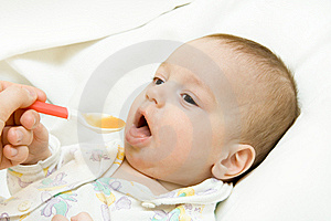 Feeding Of The Child Stock Images - Image: 8347194