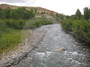 Stream In Wyoming Stock Photo - Image: 8348860
