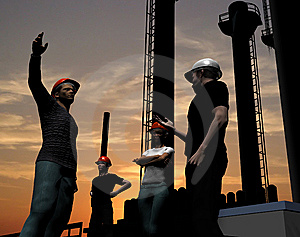 Group Of The Workers Royalty Free Stock Image - Image: 8349016
