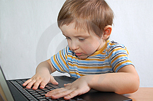 Little Boy With Notebook Stock Image - Image: 8349751