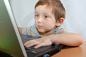 Little Boy With Notebook Stock Images - Image: 8349814
