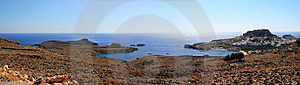 Panoramic View Of The Lindos Village In Greece Royalty Free Stock Photography - Image: 8350077