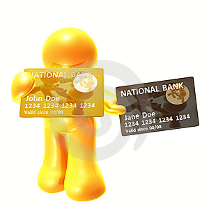 Endorsing  And Platinum Credit Card Royalty Free Stock Photos - Image: 8350528