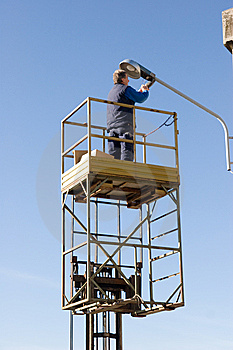 Man At Work Royalty Free Stock Photo - Image: 8351365