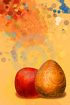 Splashed A Paint Background Easter Background Royalty Free Stock Photography - Image: 8351877