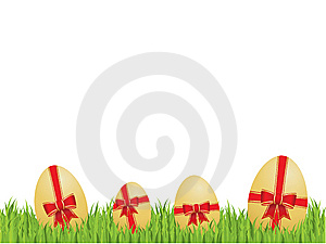 Easter Eggs With Bows And Ribbons Stock Image - Image: 8352621