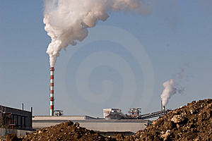 Production And Pollution Royalty Free Stock Images - Image: 8352699