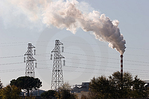 Production And Pollution Stock Photo - Image: 8352810
